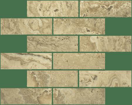 Antico 2×6 walnut mosaic