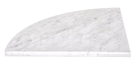 Scandola Marmi bianco carrara 18 inch seat