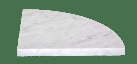 Scandola Marmi bianco carrara 9 inch shelf