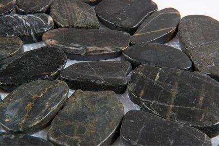 Zen Pebbles 12×12 flat tahitian black