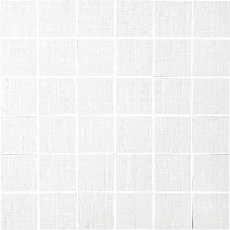Rococo 2×2 white mosaic