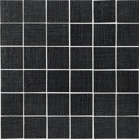 Rococo 2×2 black mosaic