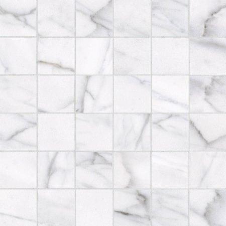 Classic 2×2 carrara mosaic