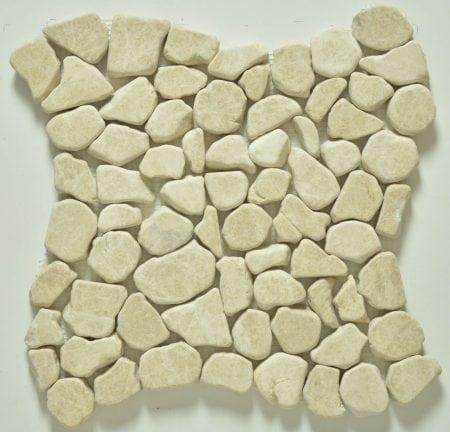 Milstone brecia pebble mosaic