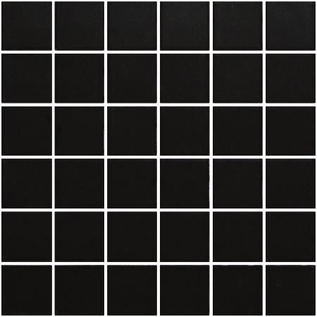 Soho 2×2 black matte mosaic