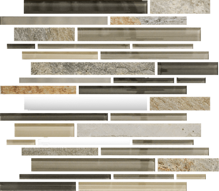 Bliss Stainless Linear fossil rock mosaic